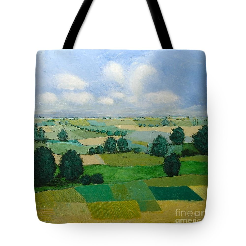 Landscape Tote Bag featuring the painting Morning Calm by Allan P Friedlander