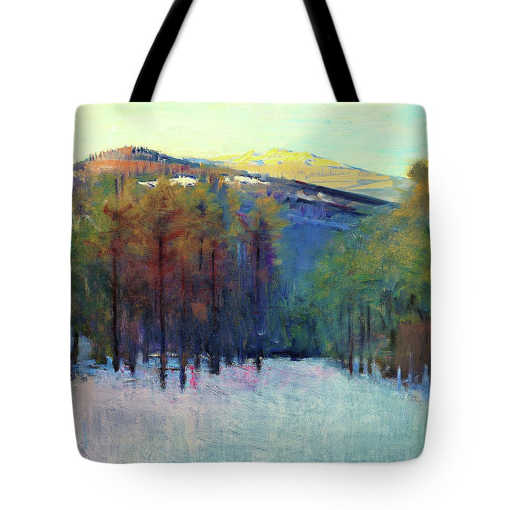 Mount Monadnock Tote Bag featuring the painting Mount Monadnock - Digital Remastered Edition by Abbott Handerson Thayer