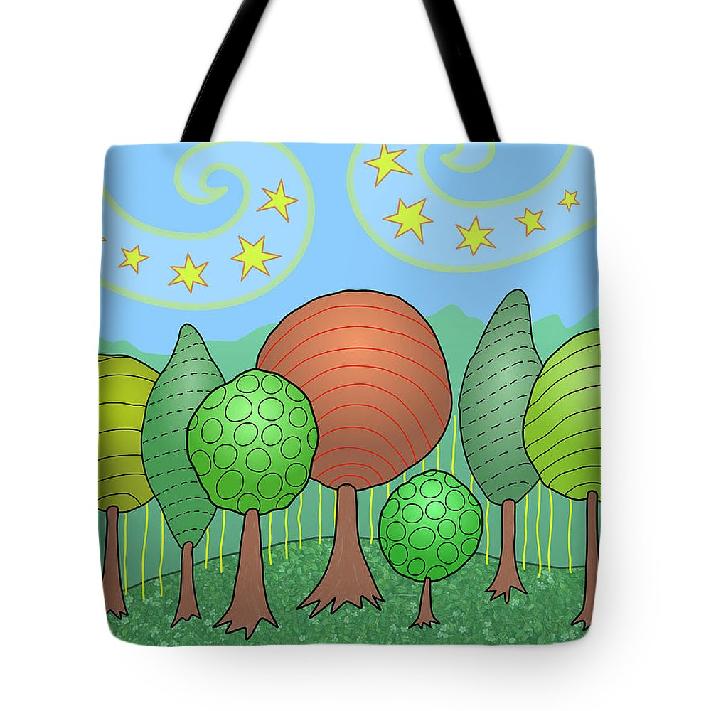 Family Tote Bag featuring the digital art My Family by Susan Bird Artwork