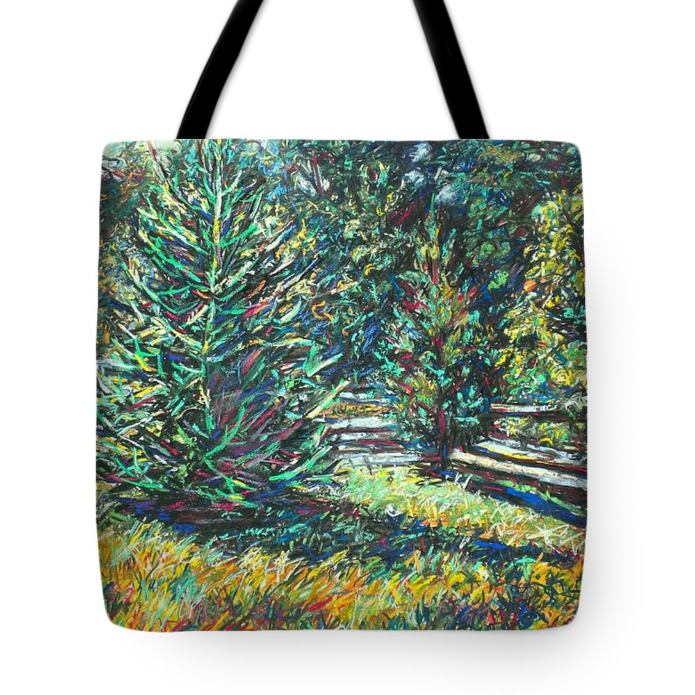 Landscape Tote Bag featuring the painting Near Smithfield Plantation by Kendall Kessler