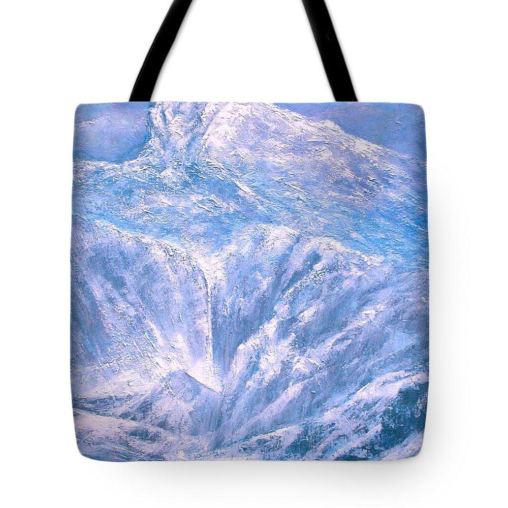 Landscape Tote Bag featuring the painting Near the Tetons by Jim Gola