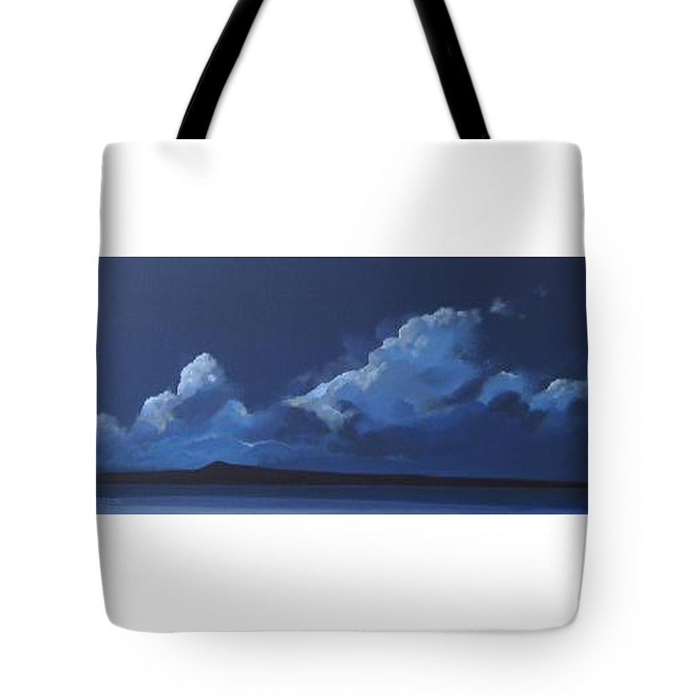 Landscape Tote Bag featuring the painting Nocturne by Hunter Jay