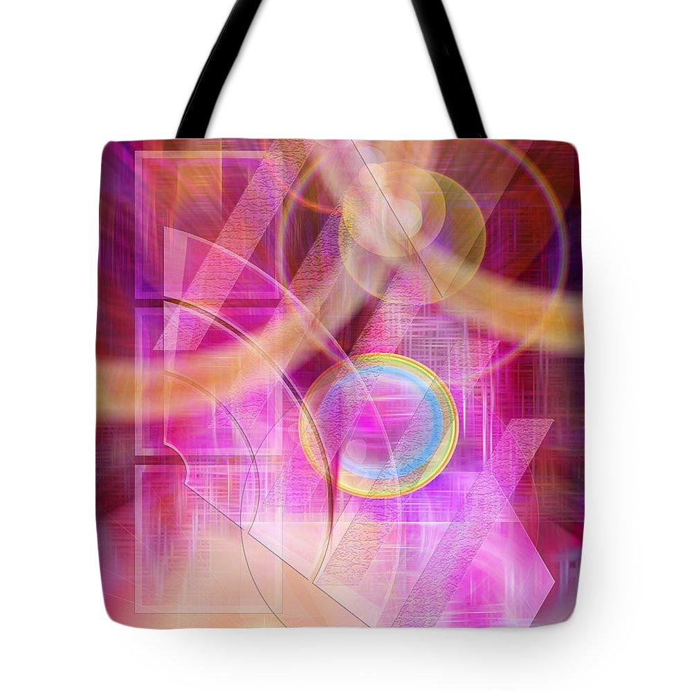 Northern Lights Tote Bag featuring the digital art Northern Lights by John Robert Beck