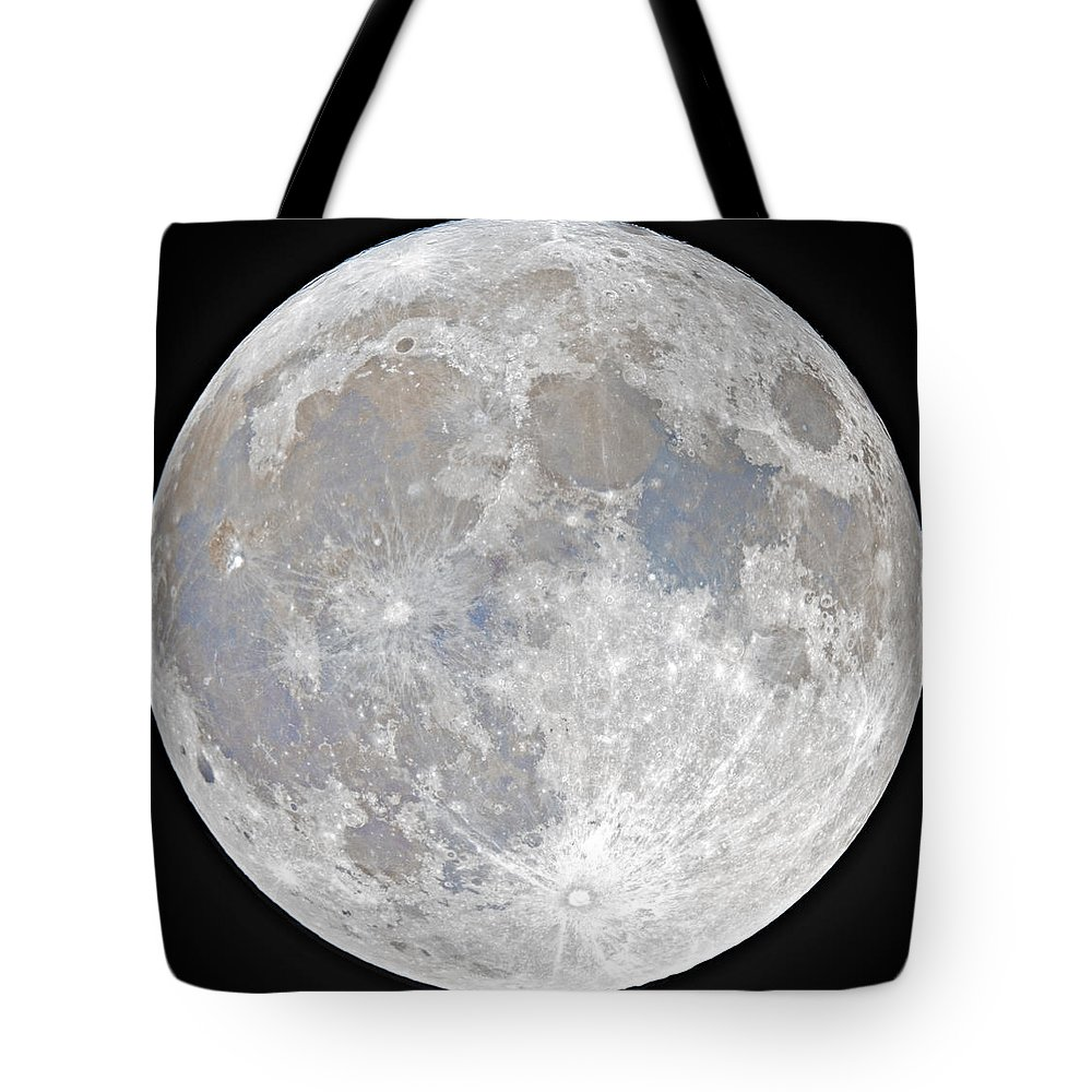 Fullmoon Tote Bag featuring the photograph October 2020 Halloween Full/Blue Moon by Prabhu Astrophotography