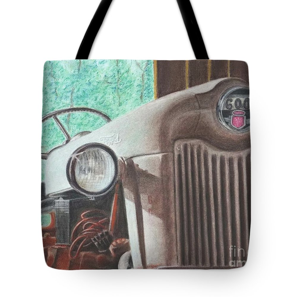 Wall Art Tote Bag featuring the pastel Old Mick by Chris Naggy