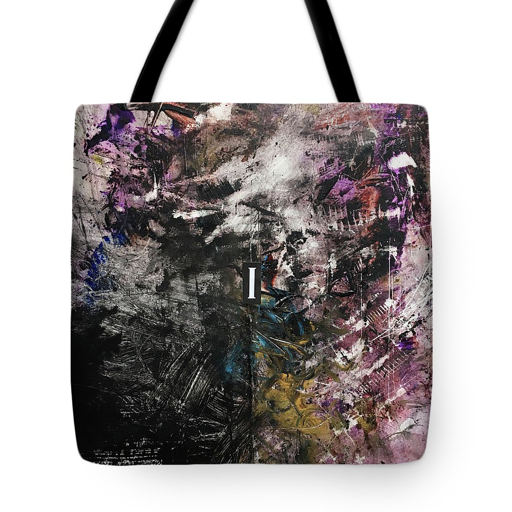 Abstract Art Tote Bag featuring the painting Orchid Vow, Hidden Spring by Rodney Frederickson