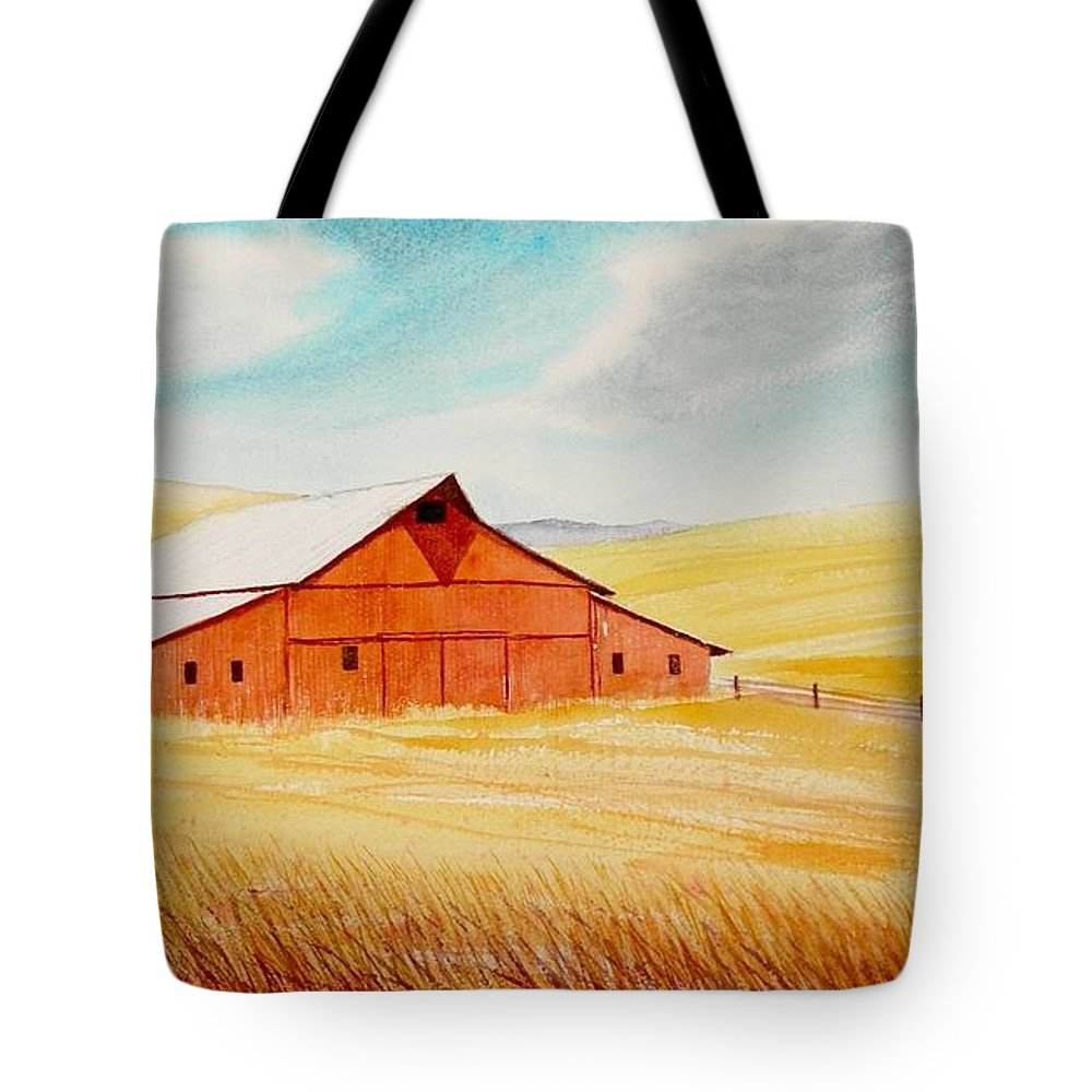 Wheat Tote Bag featuring the painting Palouse Air by Leonard Heid