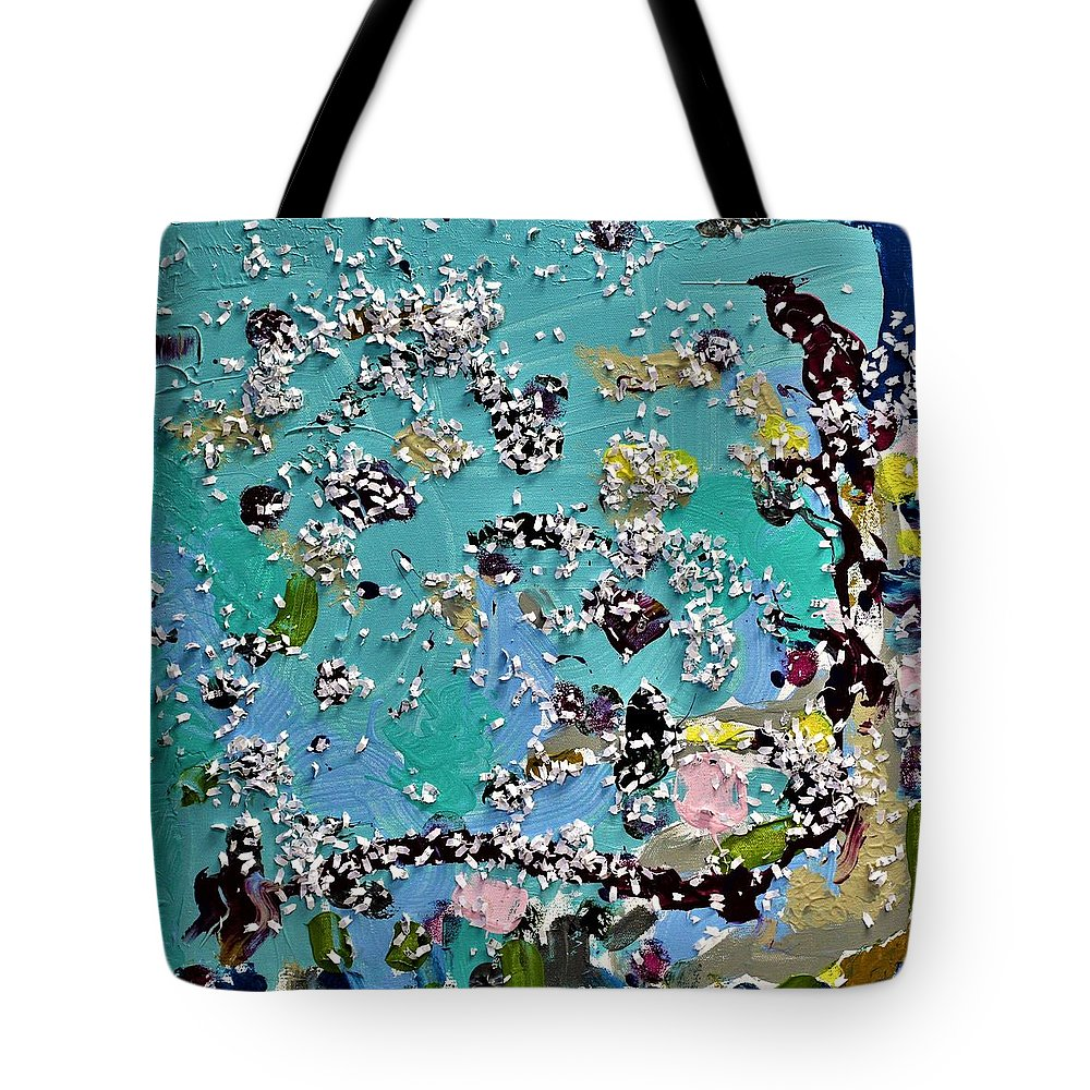 Blue Tote Bag featuring the painting Party Time by Pam Roth O'Mara