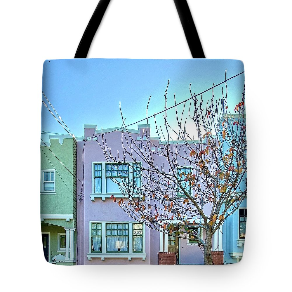Tote Bag featuring the photograph Pastel Houses by Julie Gebhardt