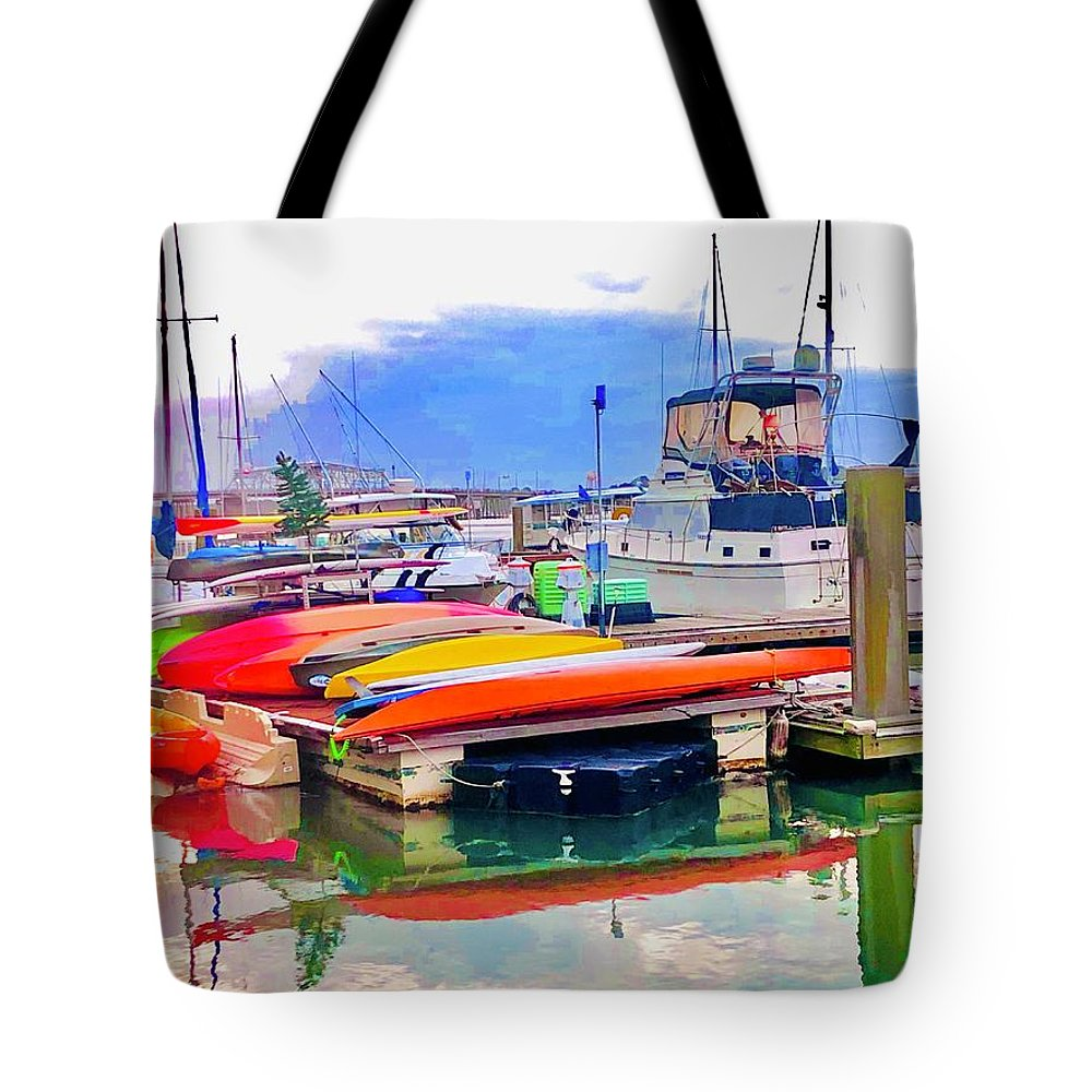 Kayak Tote Bag featuring the photograph Patiently Waiting 2 by Michael Stothard