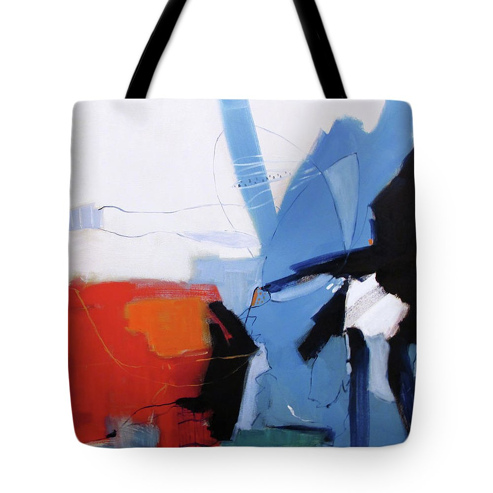 Patriot Tote Bag featuring the painting Patriot by Chris Gholson