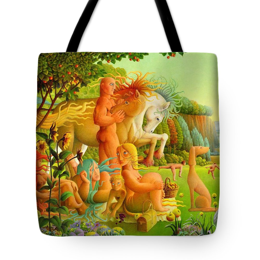 2004 Tote Bag featuring the painting Picnic by Giuseppe Mariotti