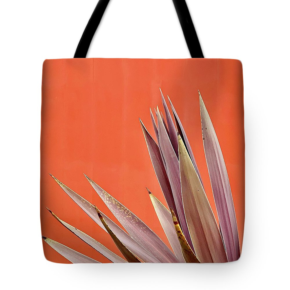 Tote Bag featuring the photograph Plant On Orange by Julie Gebhardt