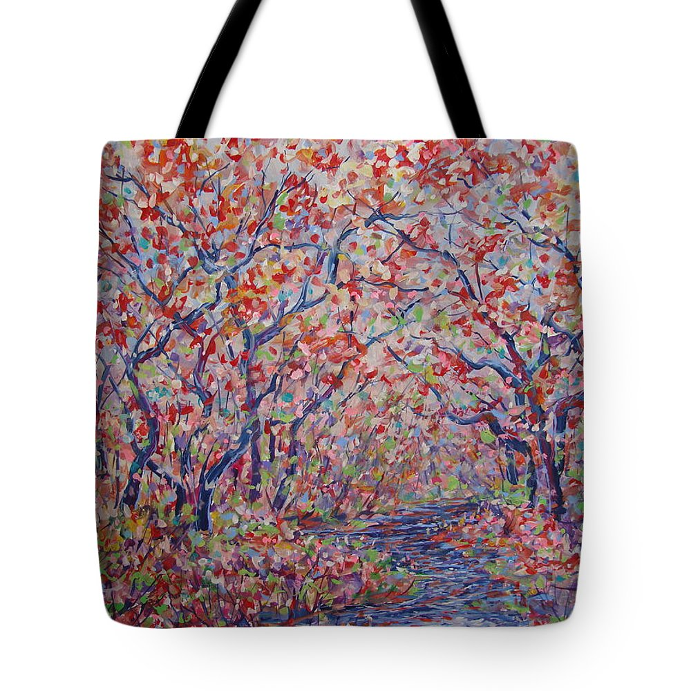 Landscape Tote Bag featuring the painting Poetic Forest. by Leonard Holland