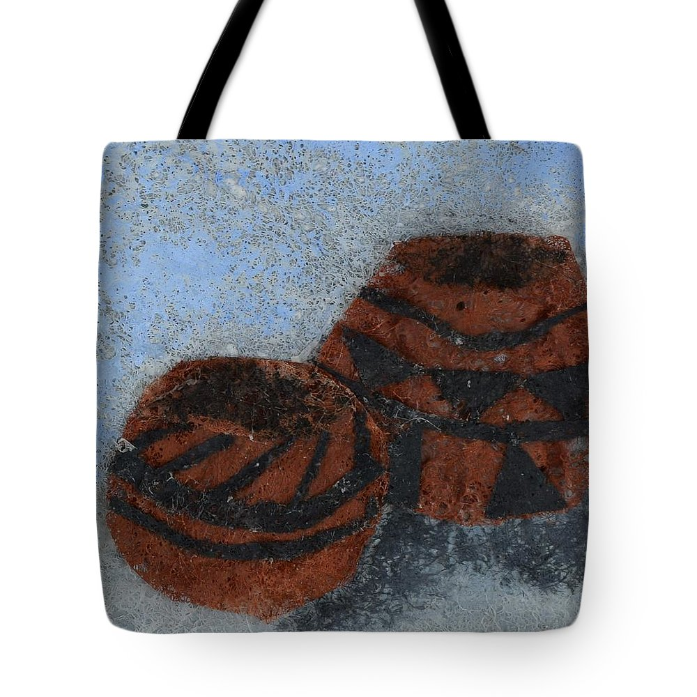 Pottery Tote Bag featuring the mixed media Pots by Charla Van Vlack