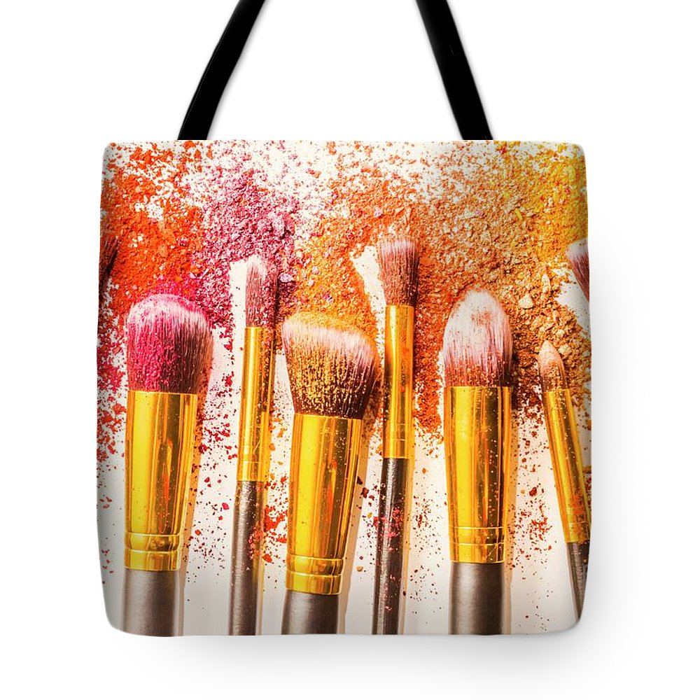 Cosmetic Tote Bag featuring the photograph Powder Palette by Jorgo Photography - Wall Art Gallery