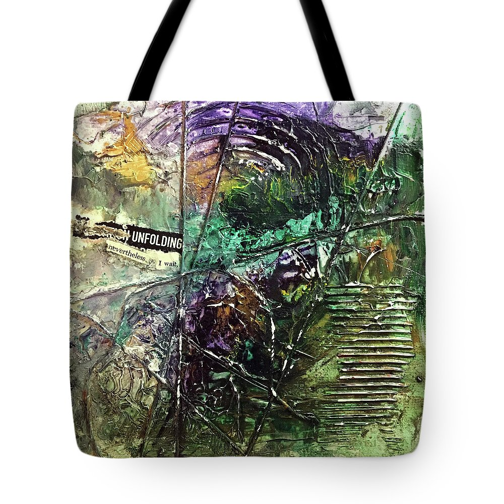 Abstract Art Tote Bag featuring the painting Premonition Lost by Rodney Frederickson
