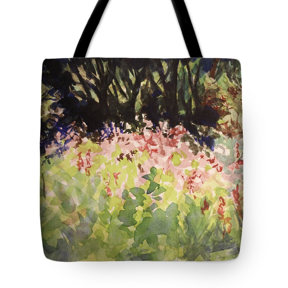 Tote Bag featuring the painting Purple Loostrife - Watercolor 15x12 by Doug Jerving