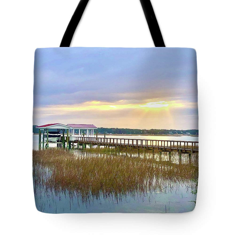 Landscape Tote Bag featuring the photograph Ray of light by Michael Stothard