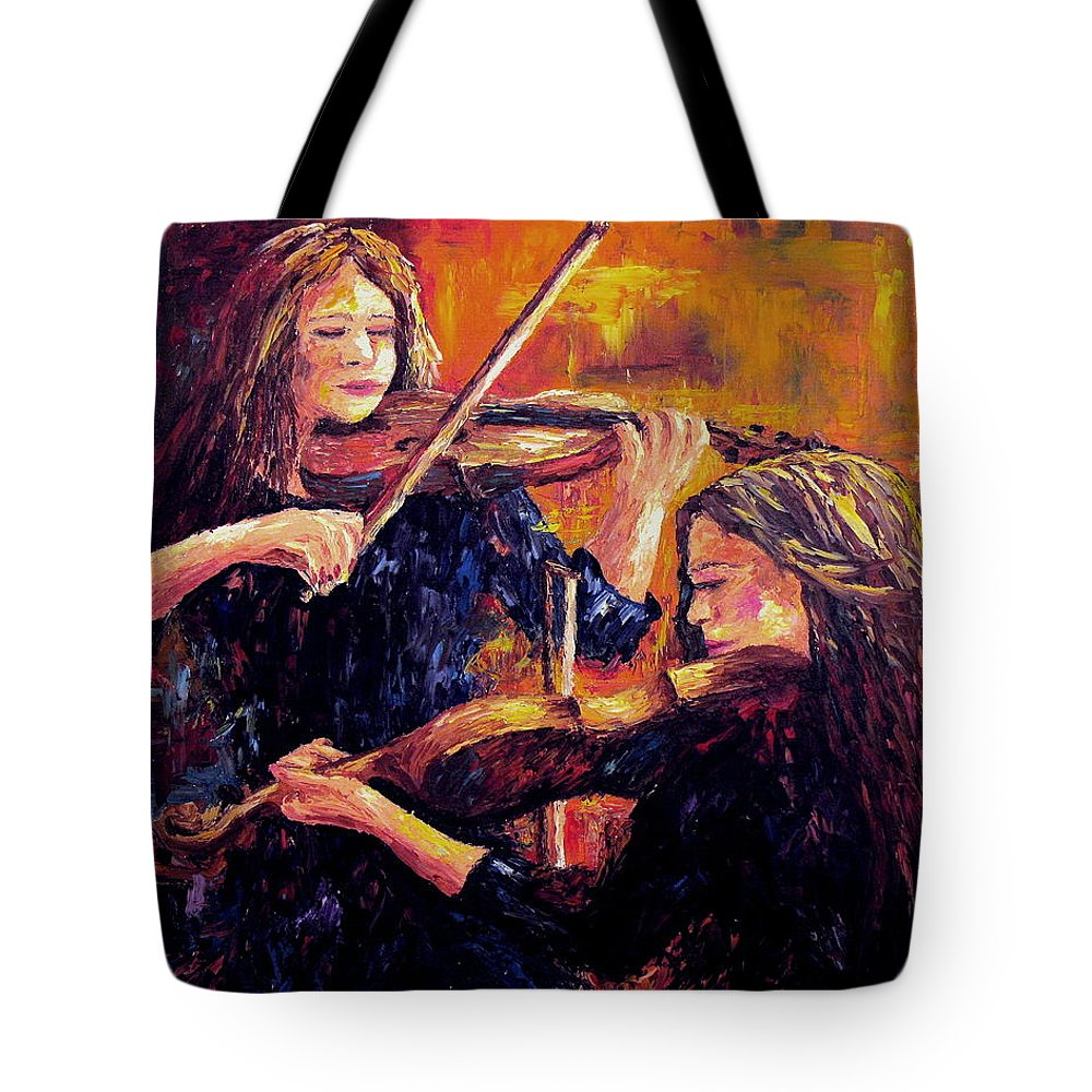Recital Tote Bag featuring the painting Recital by David G Paul