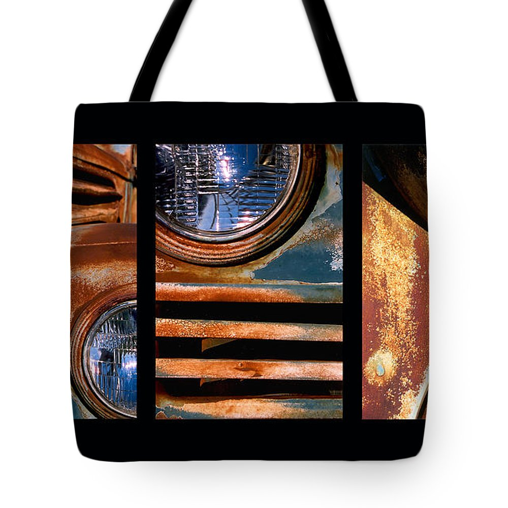 Abstract Tote Bag featuring the photograph Red Head On by Steve Karol