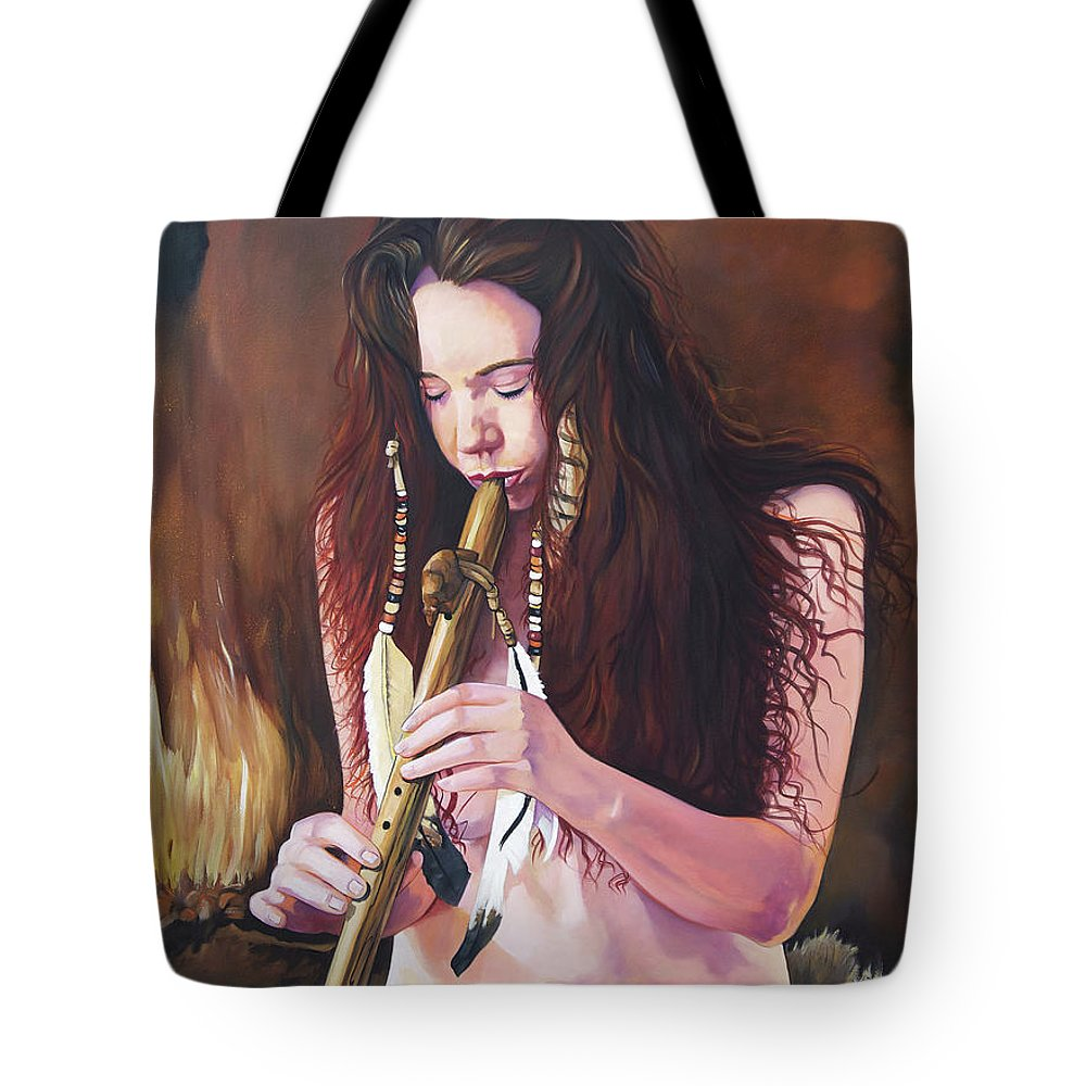 Southwest Art Tote Bag featuring the painting Release by J W Baker