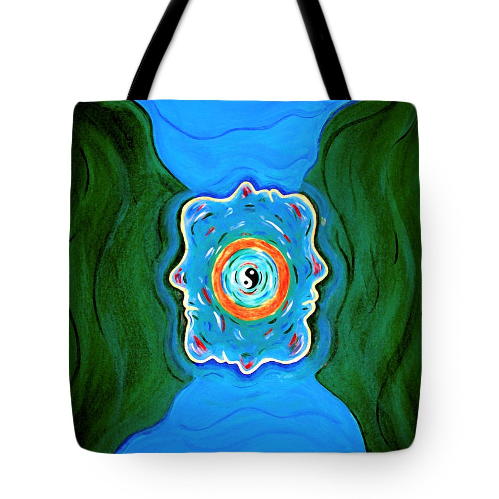 Taoist Tote Bag featuring the painting River Of Dreams by Donna Proctor