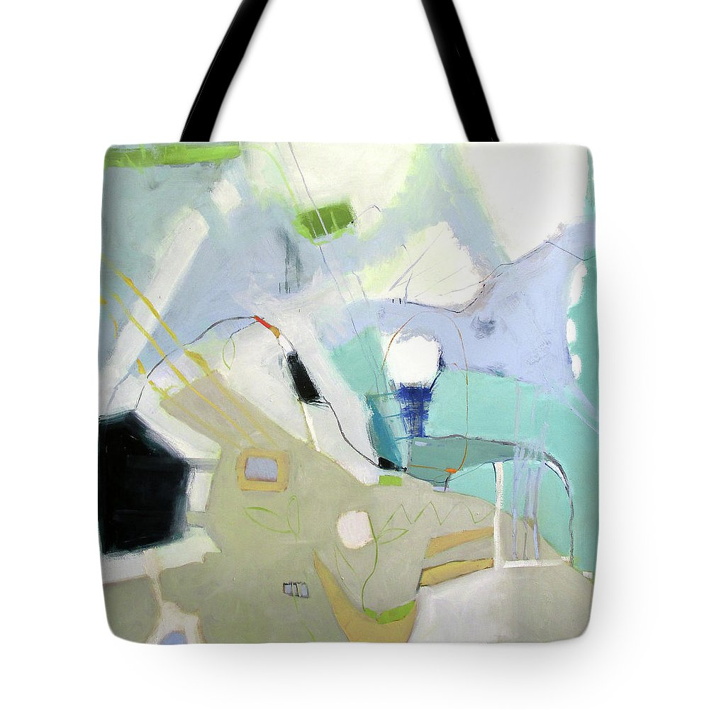 Road Map Tote Bag featuring the painting Road Map by Chris Gholson