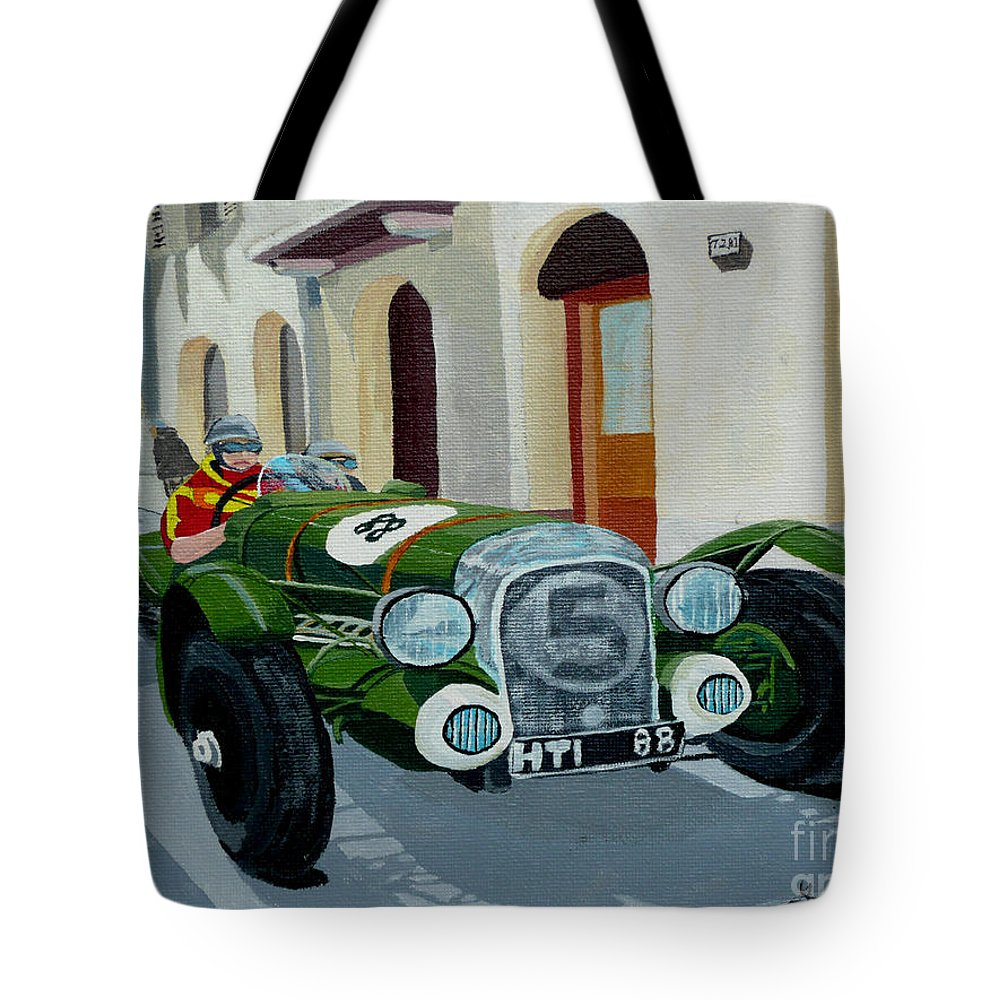 Car Tote Bag featuring the painting Road Rally by Anthony Dunphy