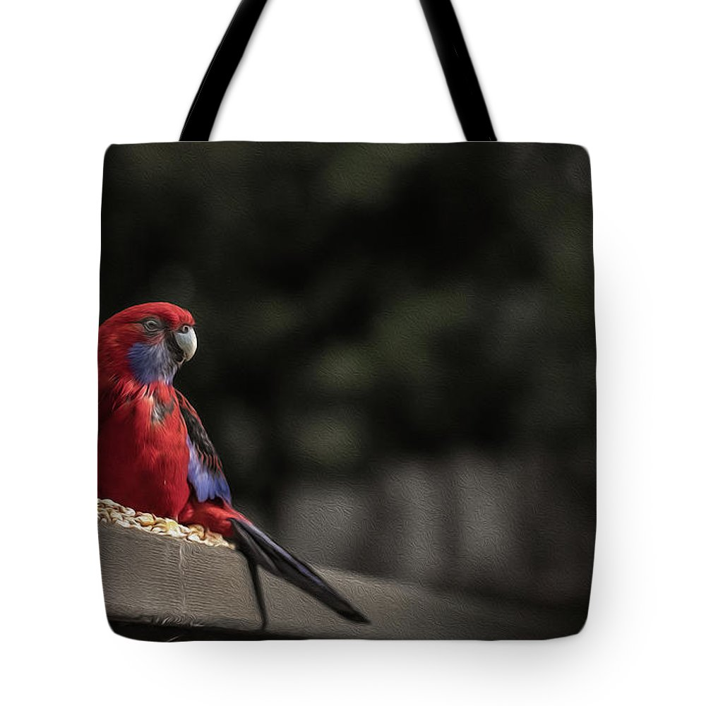 Rosella Tote Bag featuring the photograph Rosella 1 by Leigh Henningham