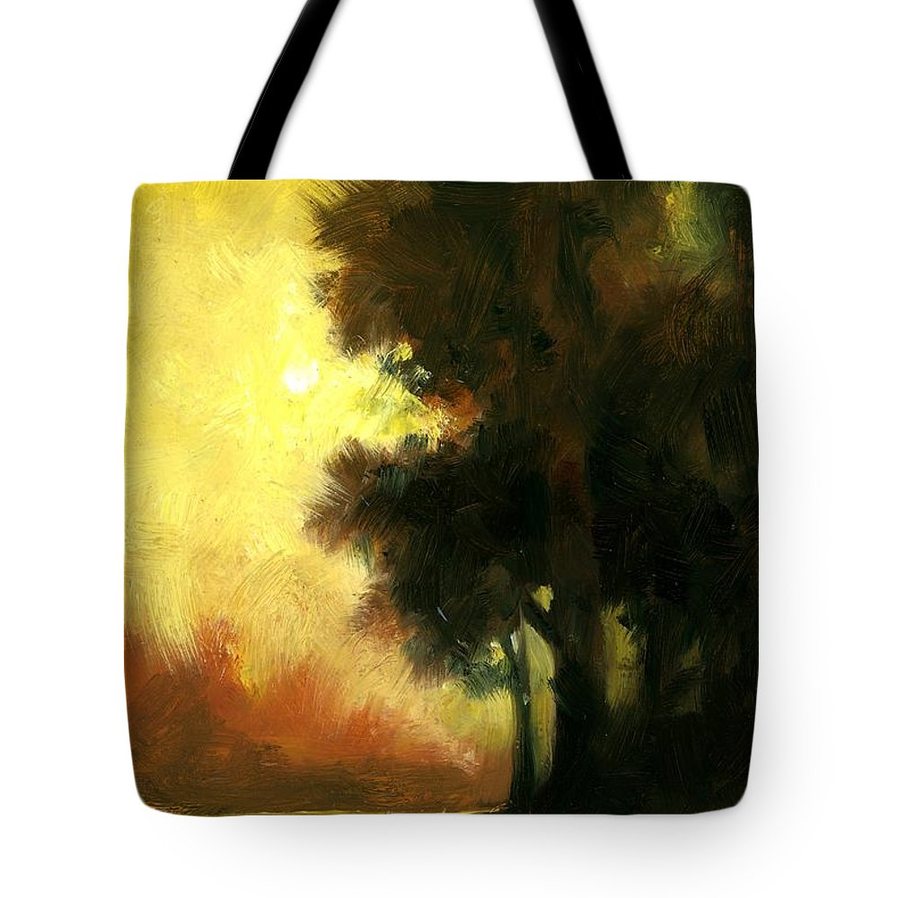 Landscape Tote Bag featuring the painting Sailors Delight by Jim Gola
