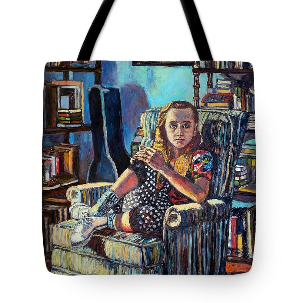 Figure Tote Bag featuring the painting Samantha by Kendall Kessler