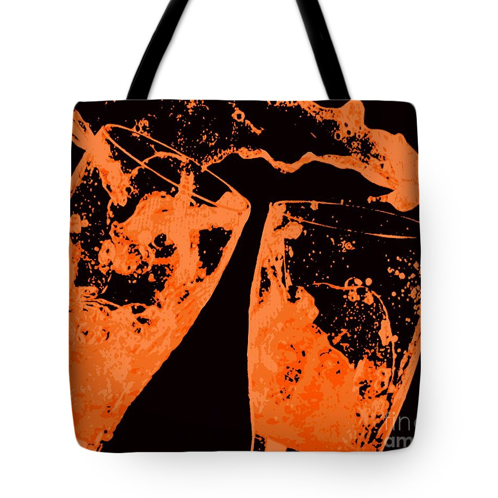 Splash Tote Bag featuring the painting Saturday Suds by Jack Bunds
