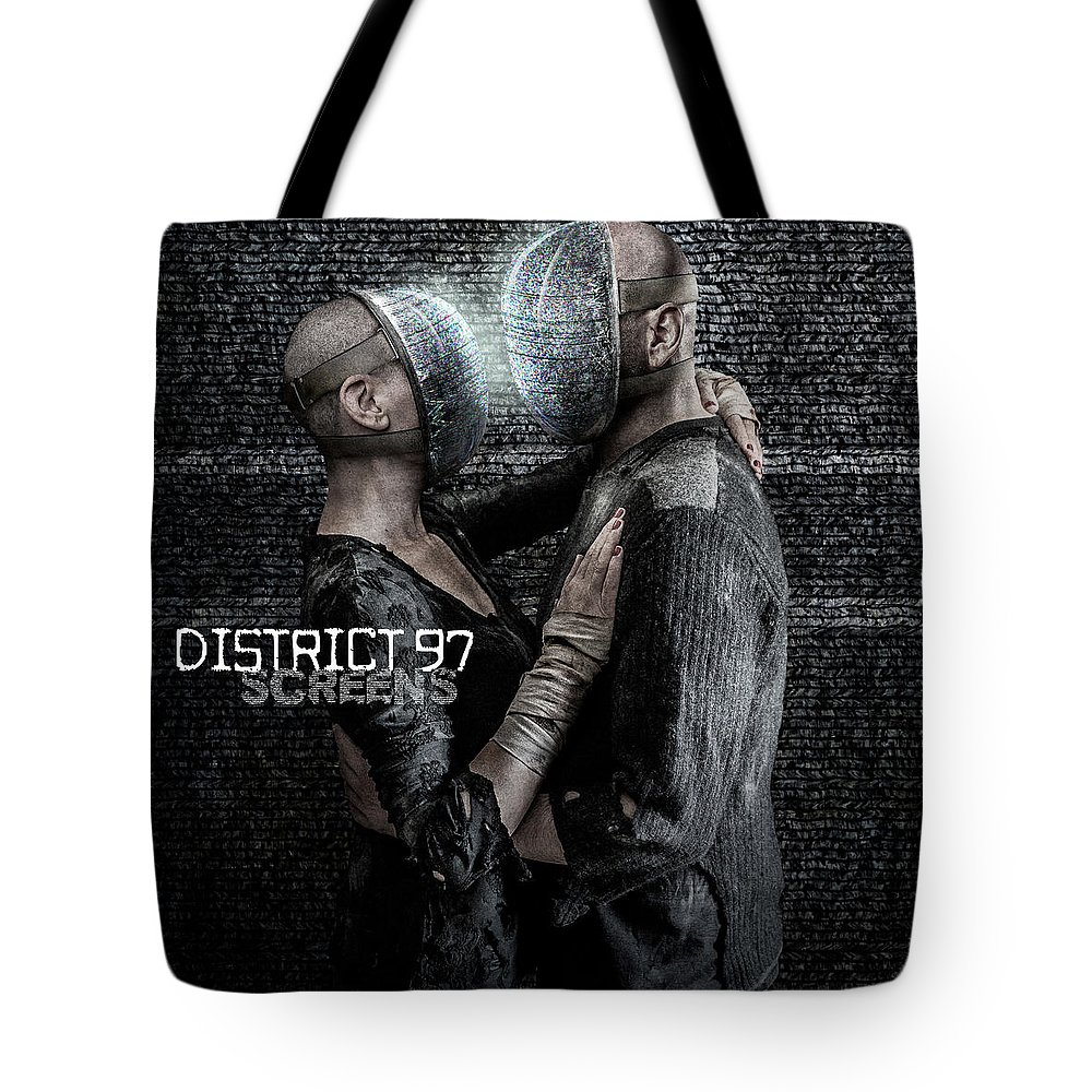 Tote Bag featuring the digital art Screens by District 97