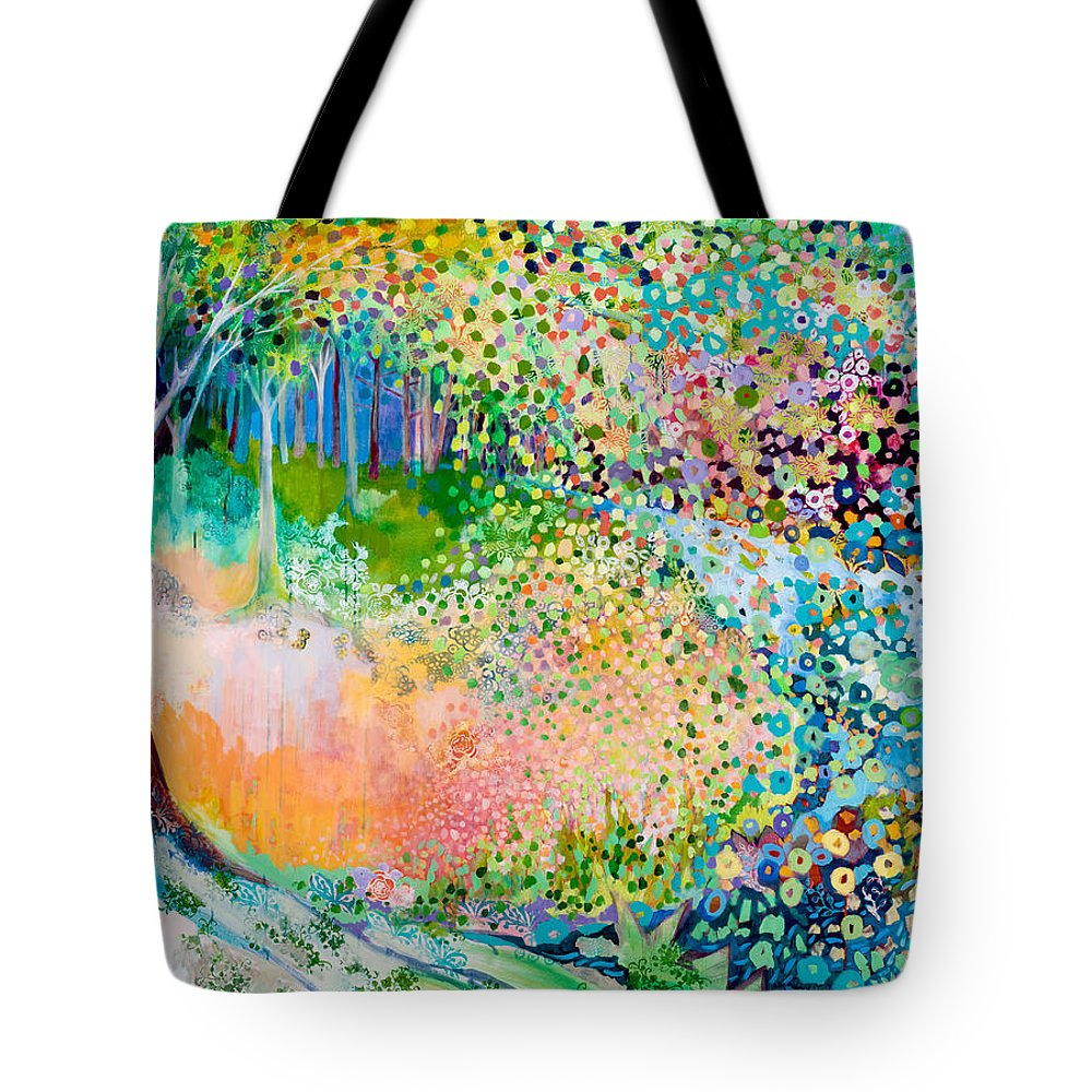 Landscape Tote Bag featuring the painting Searching for Forgotten Paths II by Jennifer Lommers