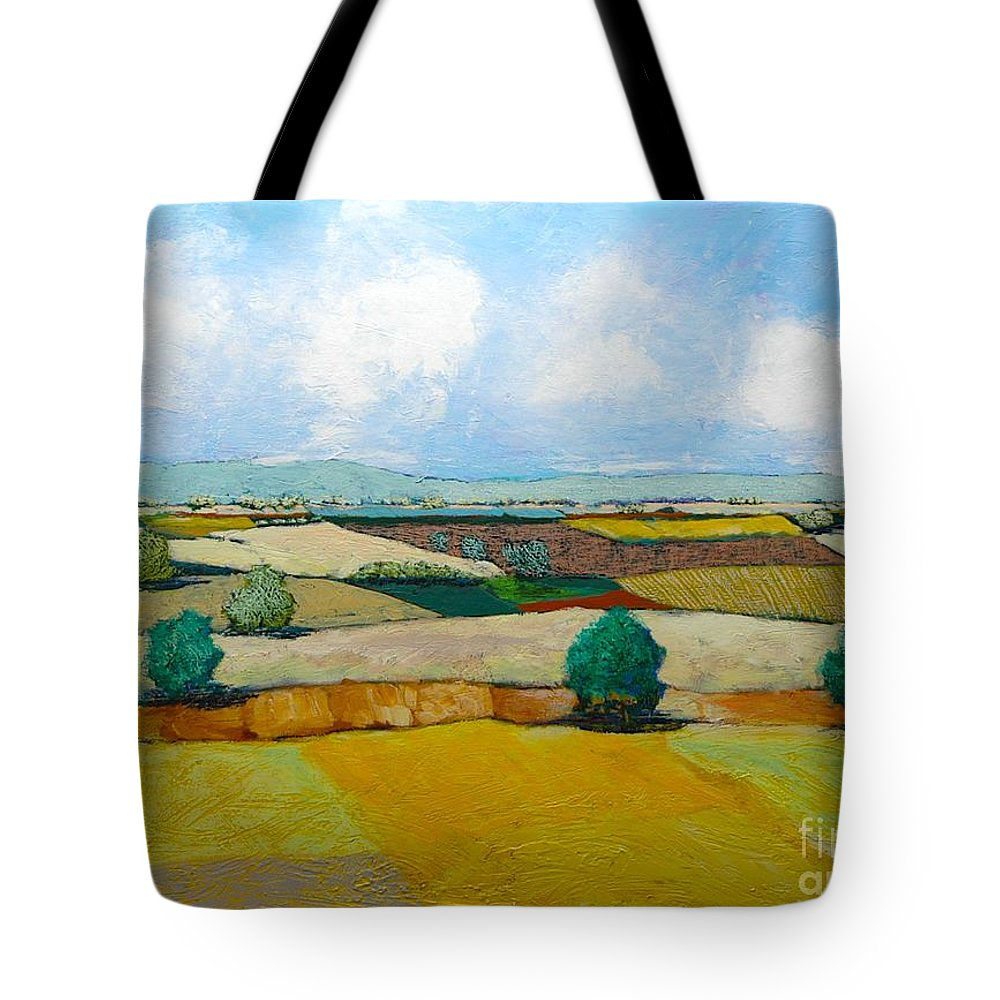 Landscape Tote Bag featuring the painting Sears Point by Allan P Friedlander