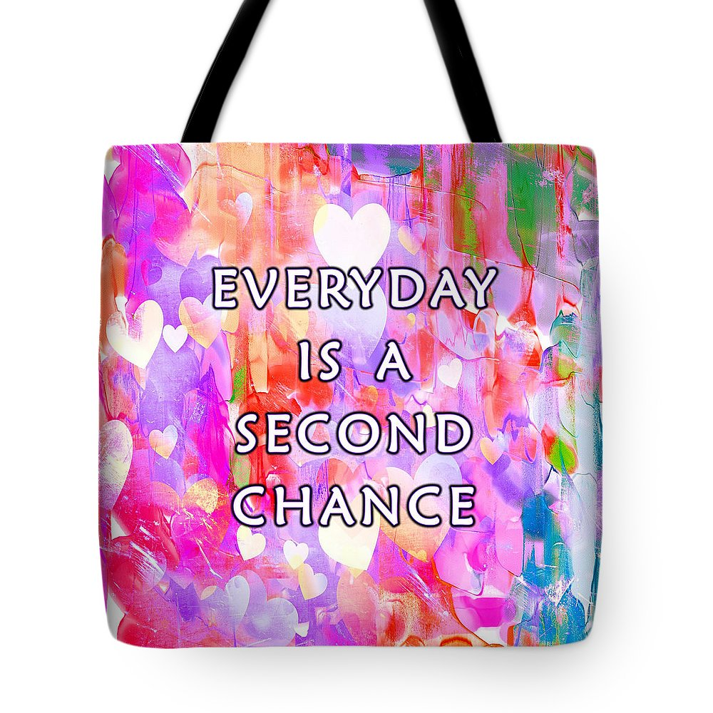 Second Tote Bag featuring the digital art Second Chance by Junction 116