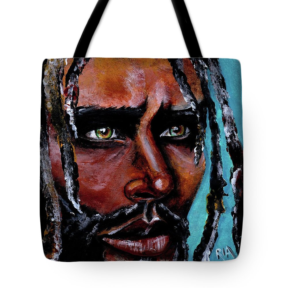 Eyes Tote Bag featuring the painting Selfless Life by Artist RiA
