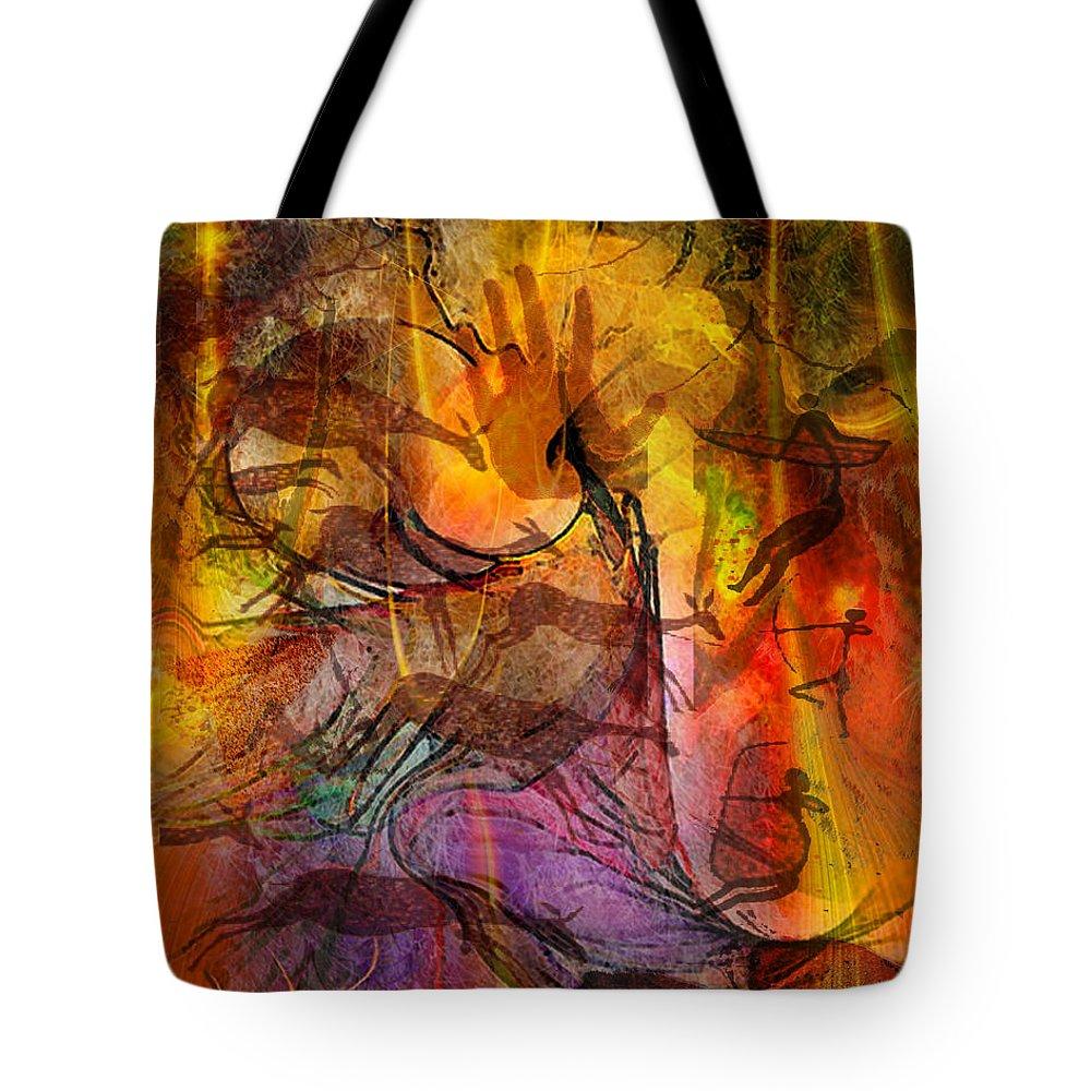 Shadow Hunters Tote Bag featuring the digital art Shadow Hunters by John Robert Beck