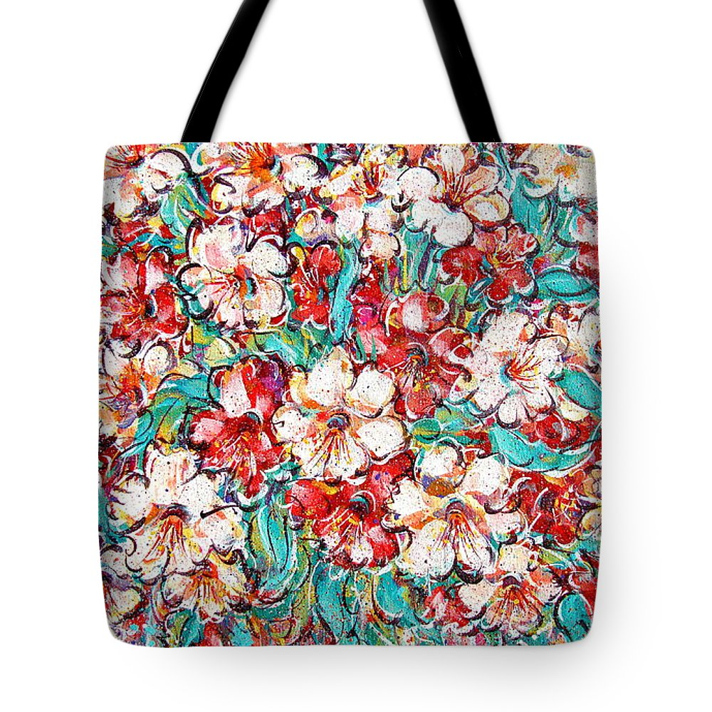 Flowers Tote Bag featuring the painting Shakespeare Scents by Natalie Holland