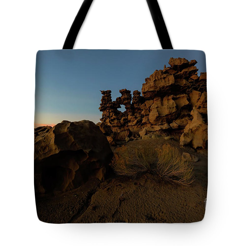 Fantasy Canyon Tote Bag featuring the photograph Shaped by the Elements by Mike Dawson