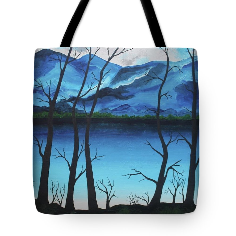 River Tote Bag featuring the painting Silent Watch by Rollin Kocsis