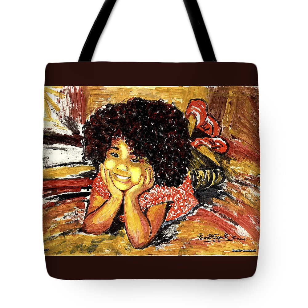 Everett Spruill Tote Bag featuring the painting Simone by Everett Spruill
