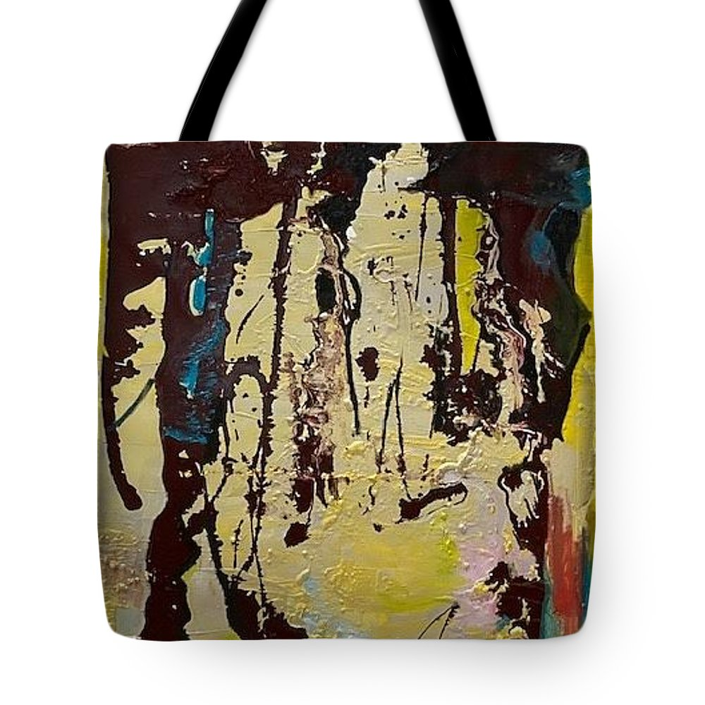 Women Tote Bag featuring the painting Sisters by Peggy Blood