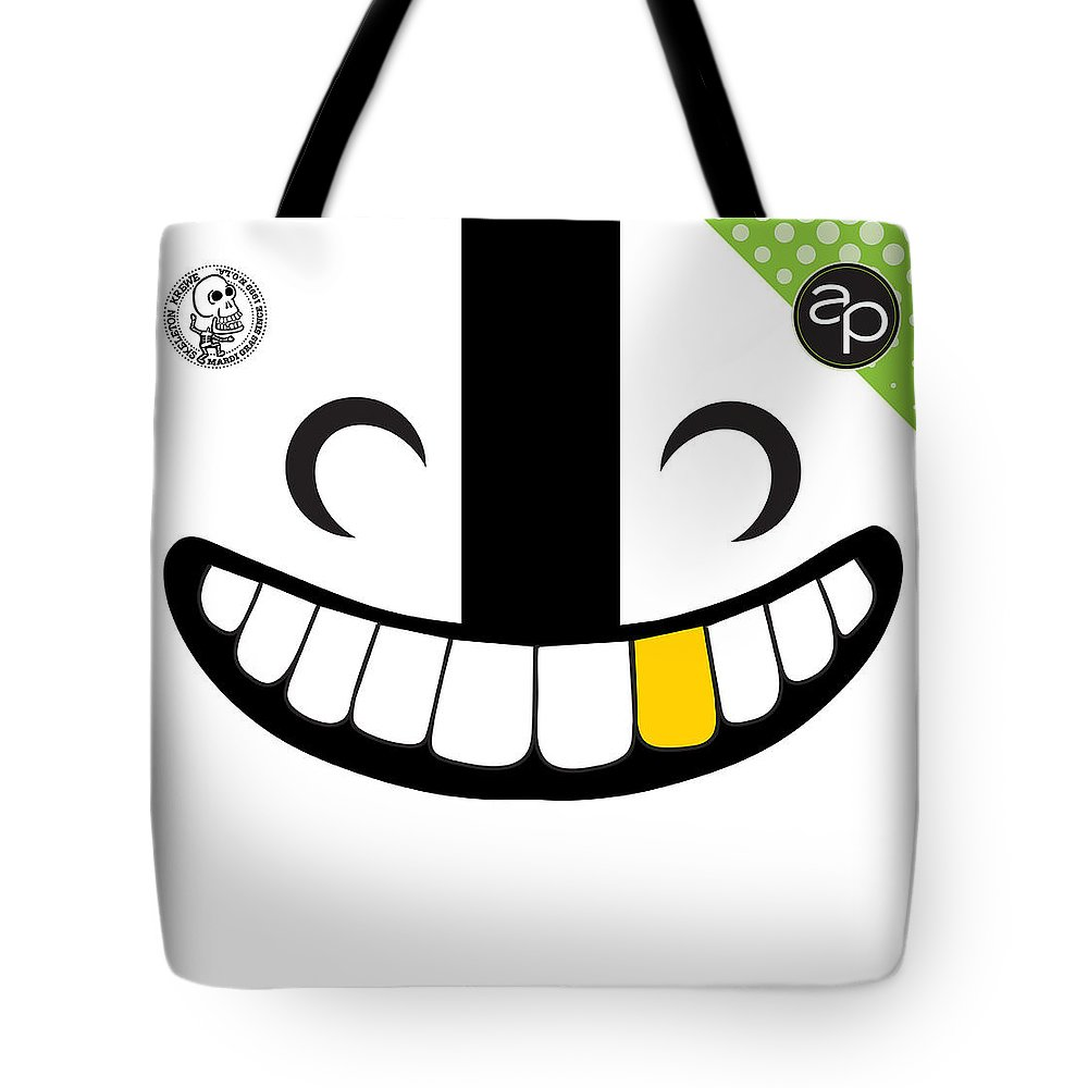 Art Of The Parade Society Tote Bag featuring the digital art Skeleton Krewe by Art of the Parade Society
