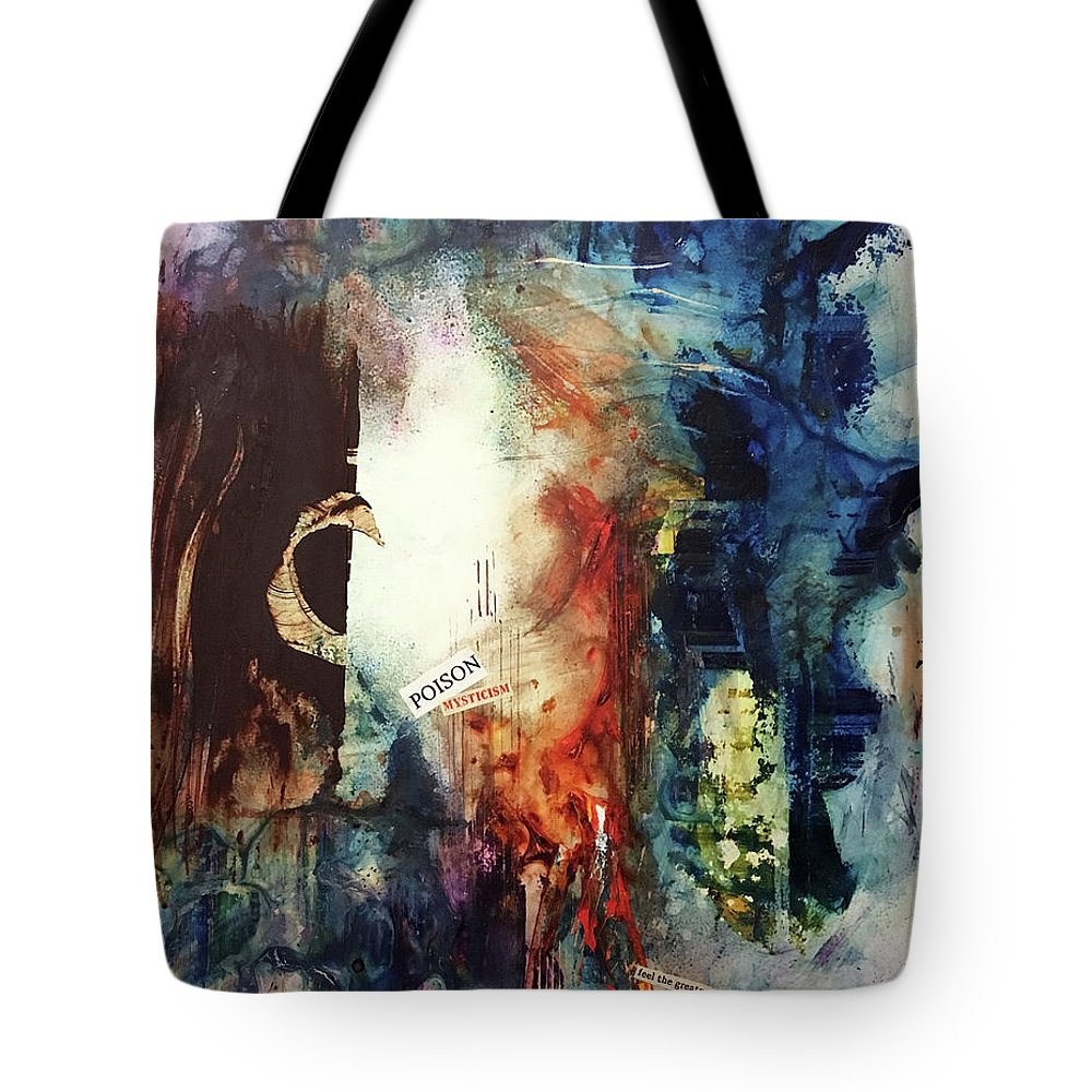 Abstract Art Tote Bag featuring the painting Slaughtered Veil by Rodney Frederickson