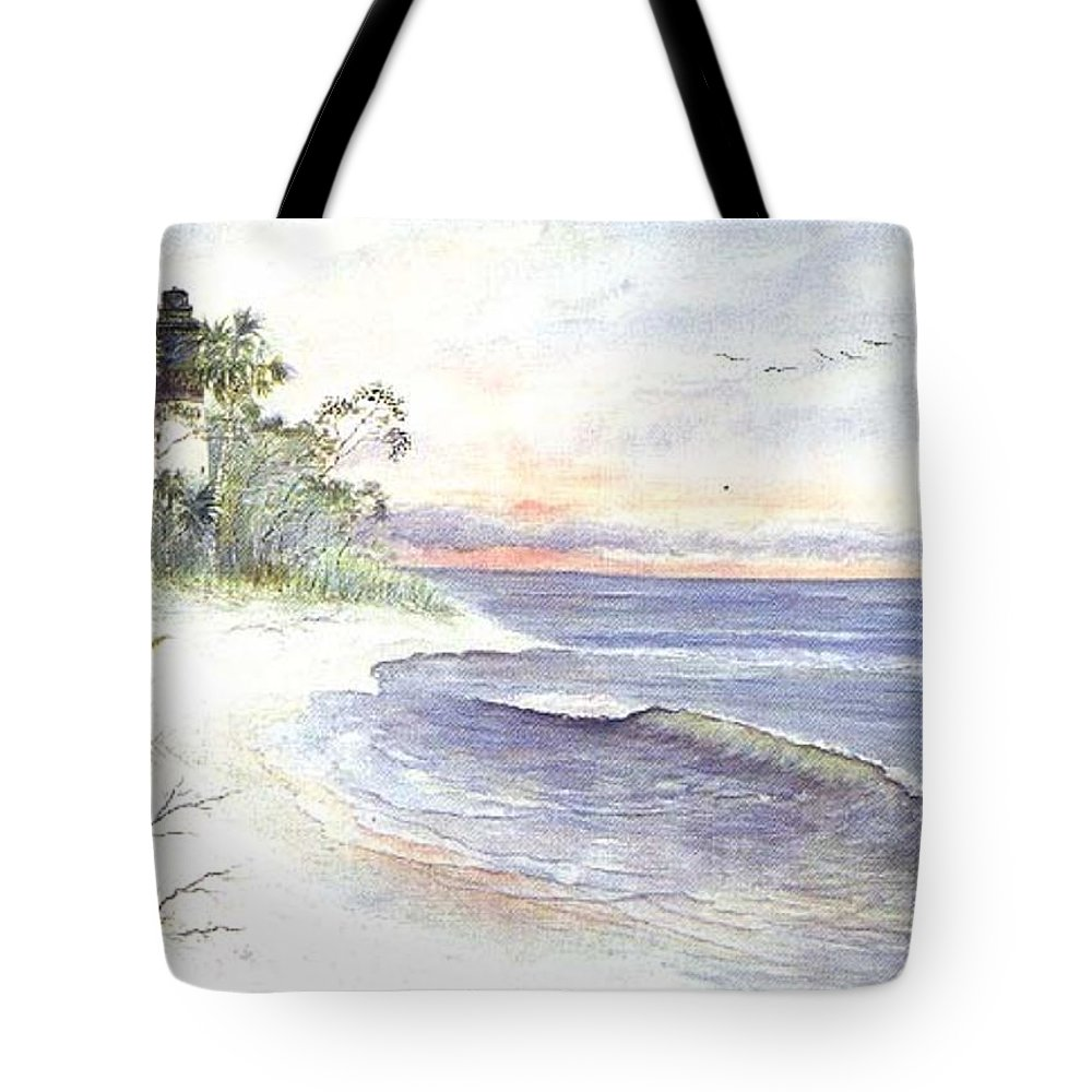 Lighthouse Tote Bag featuring the painting Solitude by Ben Kiger