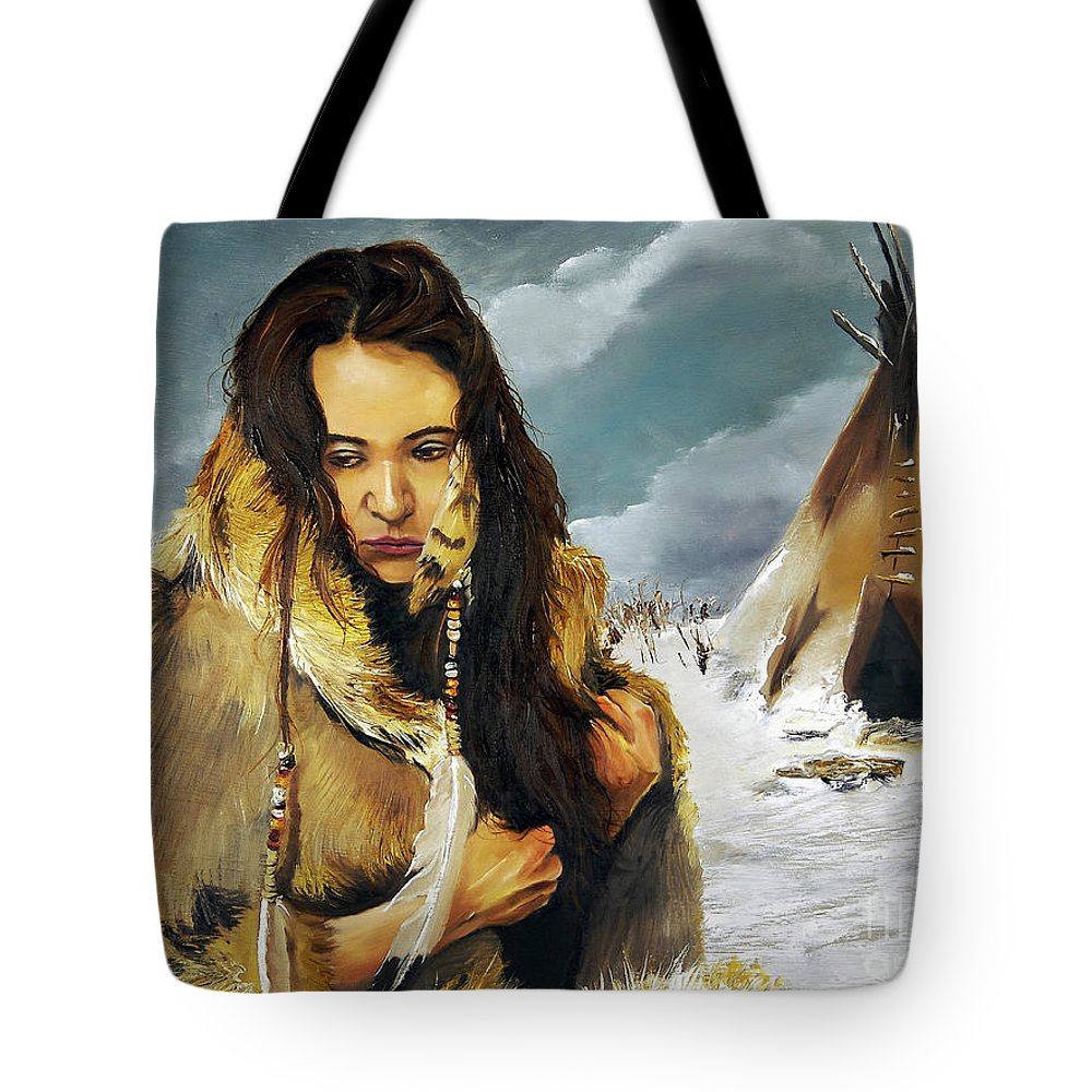 Southwest Art Tote Bag featuring the painting Solitude by J W Baker