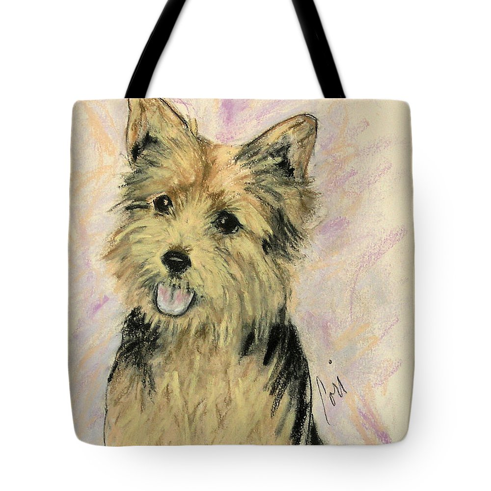 Dog Tote Bag featuring the drawing Soulmate by Cori Solomon
