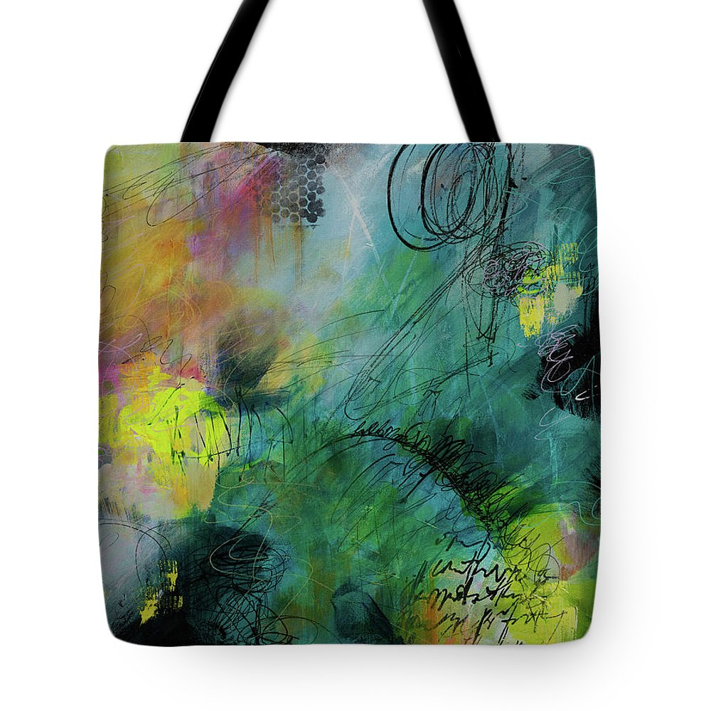 Abstract Tote Bag featuring the painting Spring Break by Lynda Goldman